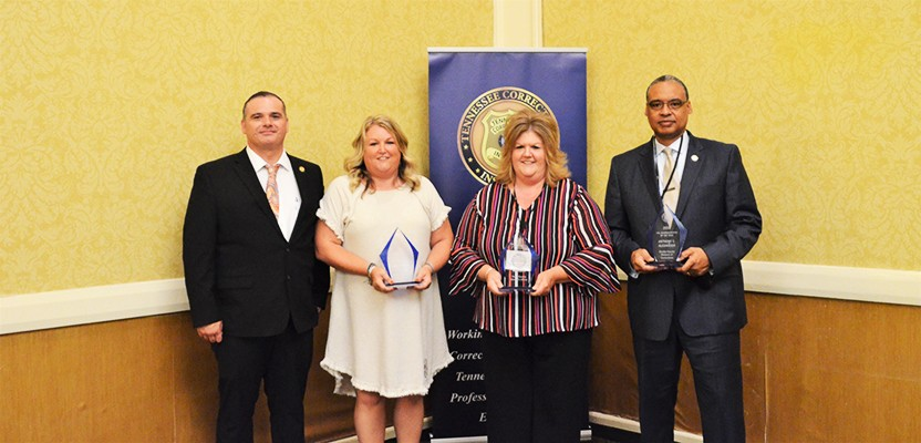 Jail Administrators April Morgan of Perry County, Jackie Rackley of Warren County, and Anthony C. Alexander of Shelby County DOC