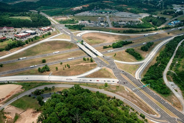 Diverging Diamond Interchange: I-40 at SR 66