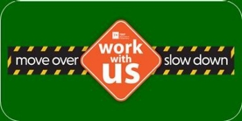 Work with Us Sign