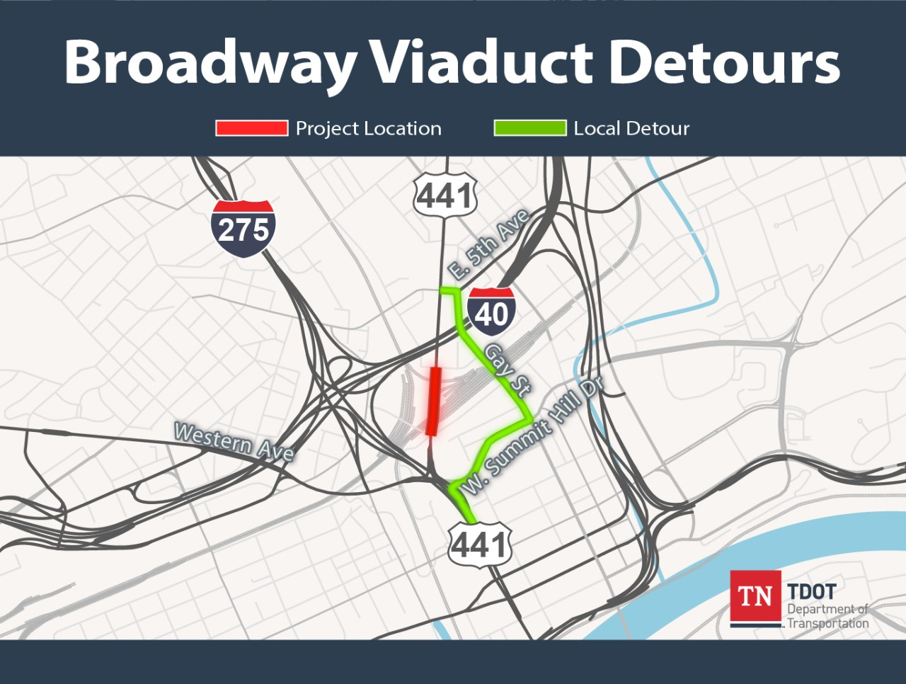 Broadway Viaduct Local Detours