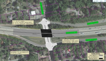 I-24 at Germantown Road with design rendering