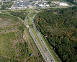 aerial view of I-75/I-24 Interchange in Hamilton County