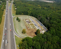aerial view of I-75 Tennessee Welcome Center