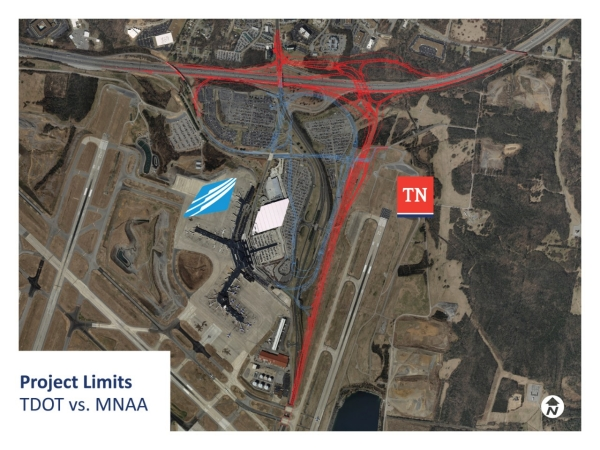 I-40 Donelson Pike Interchange Project Limits