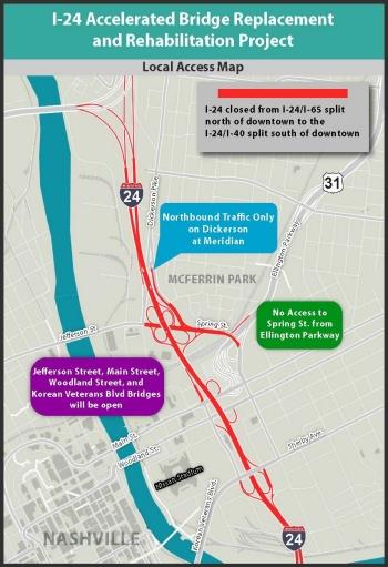 Nashville Tn Traffic Map.I 24 Bridge Rehab Timeline