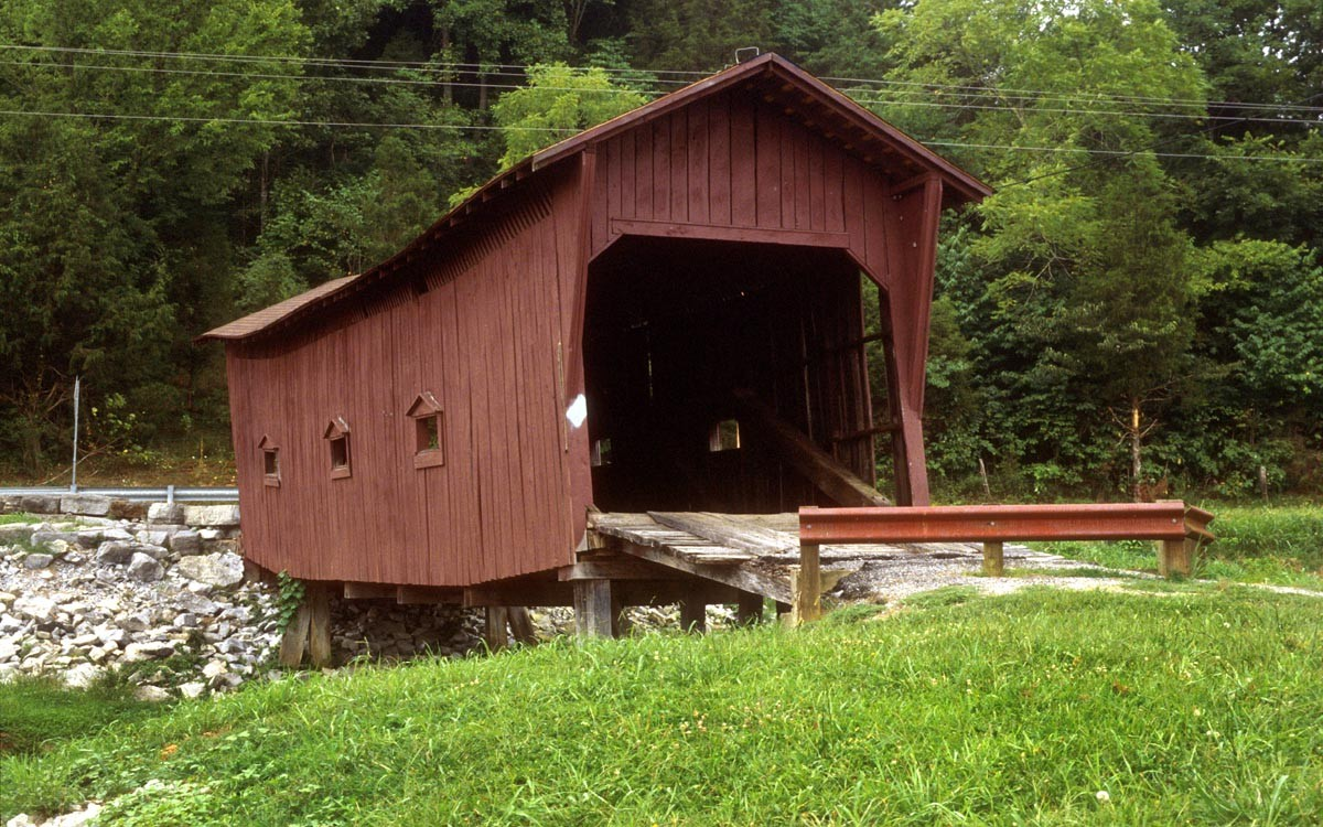 Bible Covered Bridge in Green County