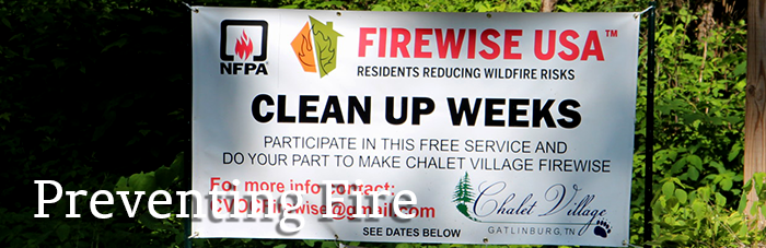 community Firewise USA fire prevention signs
