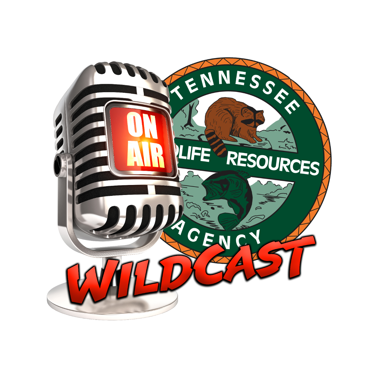 Wildcast On Air logo Tennessee Wildlife Resources Agency