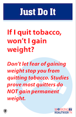 If I quit tobacco, will I gain weight?