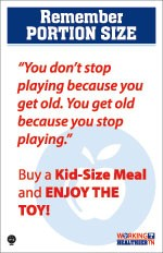 Remember portion size