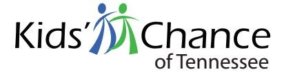 Logo for the Kids' Chance organization