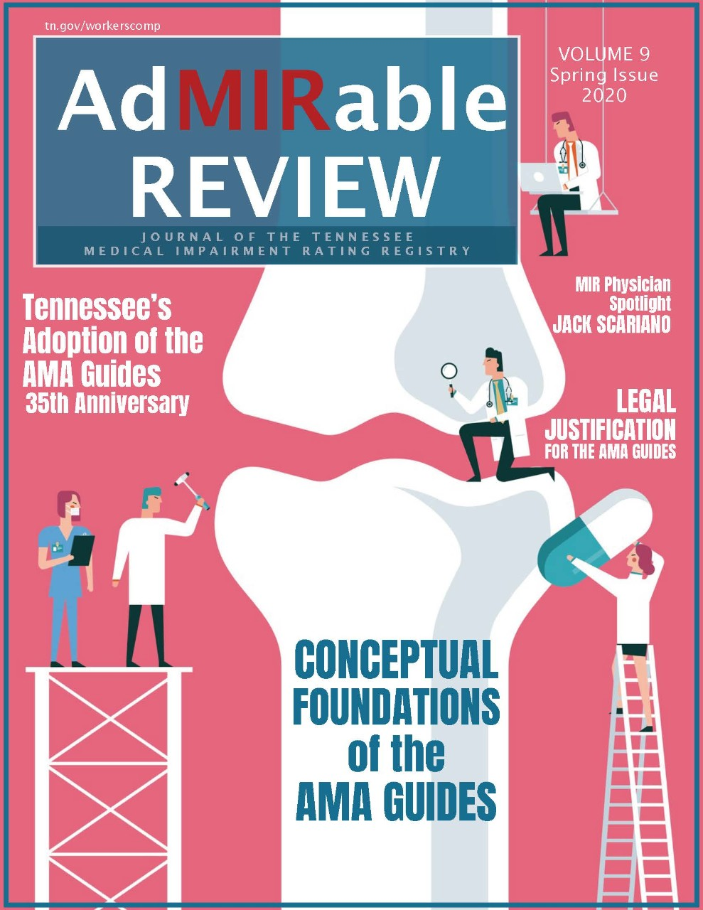 Cover image to the Spring 2020 AdMIRable Review issue
